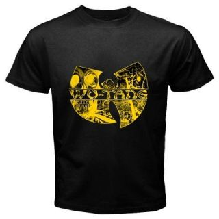 New WU TANG CLAN Logo Rap Hip Hop Music RAEKWON Mens Black T Shirt