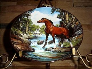 THE FRANKLIN MINT COOL CREEK CROSSING HORSE PLATE