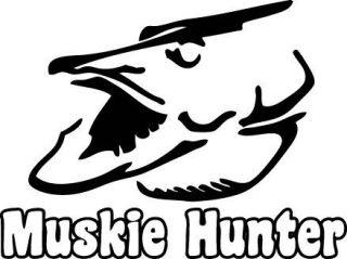 Muskie Hunter Vinyl Decal Sticker fishing fish