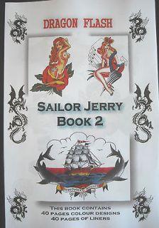 sailor jerry 2 tattoo designs flash inks machines supplies flash
