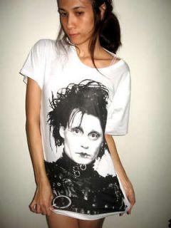 Johnny Depp Edward Scissorhands Movie Rock T Shirt S