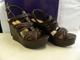 Madden Girl New Womens Kashka Brown Platform Wedge Heels 9 M Shoes