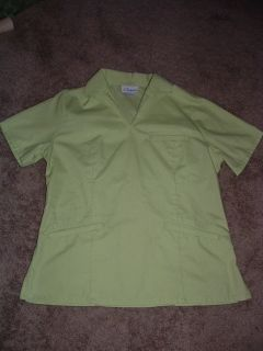 Nursing Nurse scrub uniform TOP size XS LIFE LIME GREEN