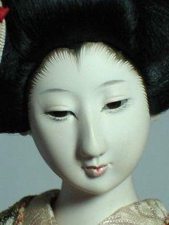 Vintage Japanese Geisha Doll Gofun