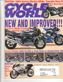 WXC360 Yamaha Seca II Harley Davidson Electra Glide & Low Rider 1993