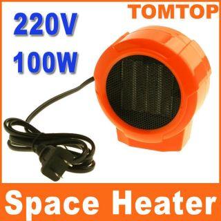 Personal Ceramic Space Heater Electric Fan 220V 100W Forced Orange