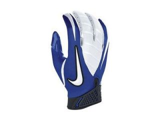 mens/adult sz XXL Nike vapor jet receiver gloves/pair royal white nwot