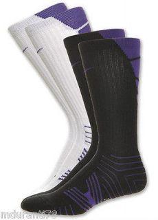 purple elite socks in Clothing,