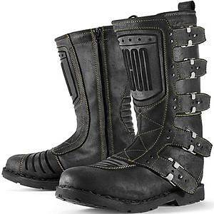 Icon 1000 Elsinore Motorcycle Street Boots Black