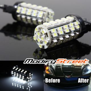 WHITE 68 SMD LED PARKING TURN SIGNAL BUMPER BRAKE LAMP LIGHT BULBS