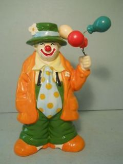vtg Piggy Bank Clown with Balloons Bank by Enesco Bank