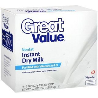 INSTANT POWDERED DRY NONFAT MILK 32 OZ VITAMIN A & D ADDED GREAT VALUE