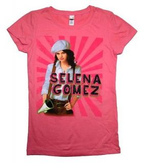 Selena Gomez Singer Pose Sparkle Juniors Girls Youth T Shirt Tee