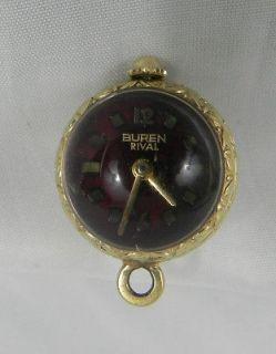 Vintage Ladies 10K gold plated Buren Rival pendant watch