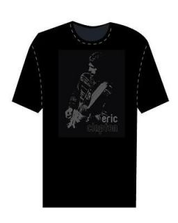 ERIC CLAPTON 2006/7 WORLD TOUR BLACK FADE T SHIRT XL