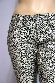 WOMENS SEXY LEOPARD PRINT SKINNY PANTS JEANS 14, 16, 18, 20, 22