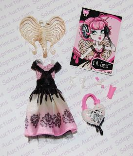 NEW Monster High Sweet 1600 CA Cupid Doll Outfit Wings Jewelry Purse