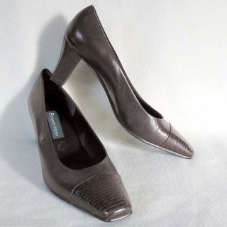 ETIENNE AIGNER Womens 'Veni' Pumps Shoes Brown Leather & Croc Size
