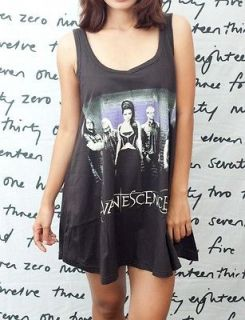 Evanescence Amy Lee Rock Roll Artist WOMEN T SHIRT DRESS Tank TOP Vest