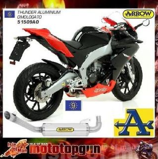 EXHAUST ARROW THUNDER APRILIA RS4 125 RS 4 2011 2012 SILENCER