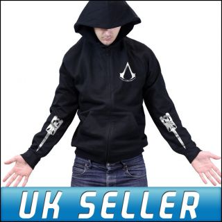 Assassins Creed 3 Join or Die Limited Blade Zipped Hoody Hoodie Mens
