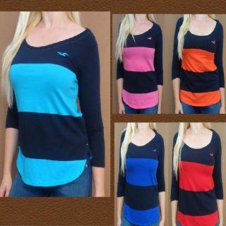 by Abercrombie womens Jack Creek long sleeve shirt New NWT stripe