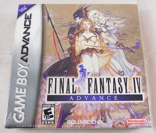 Gameboy Advance GBA Final Fantasy FF IV Video Game Sealed NEW