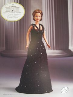 First Ladies of America Crochet Fashion Doll Pattern Edith Wilson