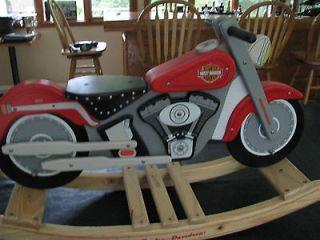 Harley Davidson Kids Kraft Fatboy Motorcycle ROCKER ROCKING HORSE WOOD