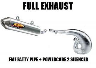 FULL FMF FATTY PIPE EXHAUST AND POWERCORE 2 SILENCER 87 06 SUZUKI LT80