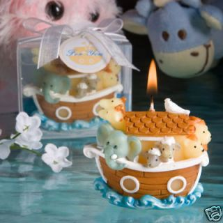 24 Noahs Ark Candle Baptism Baby Shower Favor Boy Girl