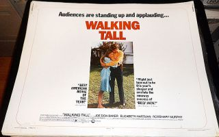 WALKING TALL! 73 JOE DON BAKER ROLLED ORIGINAL 1/2 SHEET FILM POSTER!