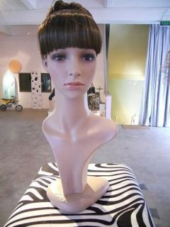 Realistic Plastic Female mannequin head for wig & hat & glass