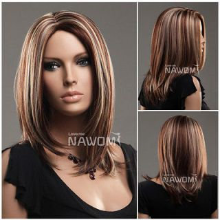 Female highlights Straight Wig Hair # ZL973 33H27H613 wig Accessories
