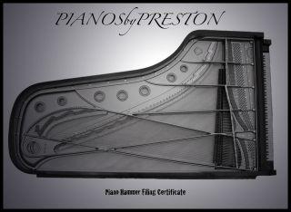 PIANOSbyPRESTON Piano Hammer Filing Certificate,West Palm Beach,FL