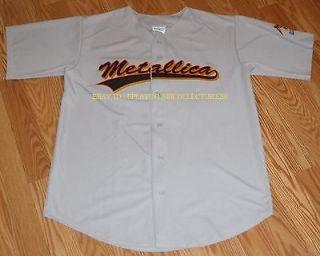 Metallica Fillmore San Francisco CA Gray Baseball Jersey 30th