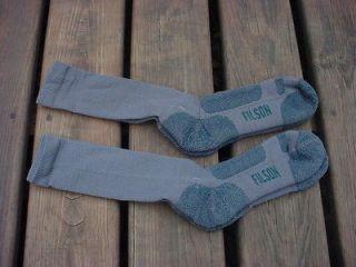 Pair Of Filson Medium Weight Merino Wool Crew Socks Size Large NEW