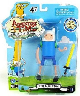 Adventure Time with Finn & Jake 5 Action Figure Stretchy Finn ,New