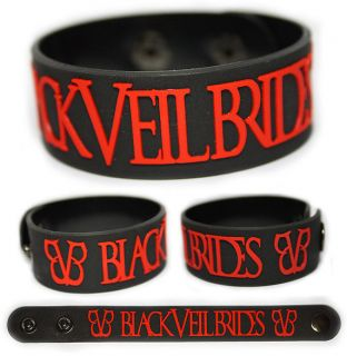 BLACK VEIL BRIDES Rubber Bracelet Wristband Set the World on Fire