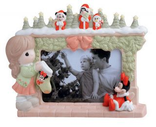 Precious Moments Stocking Hung By The Chimney With Minnie Photo Frame