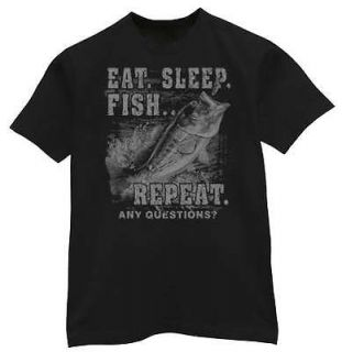 BIG & and TALL * Eat Sleep Fish Funny Fishing T shirt