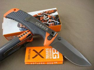 Gerber Bear Grylls Tactical Hunting Fishing Serrated Folding Knife