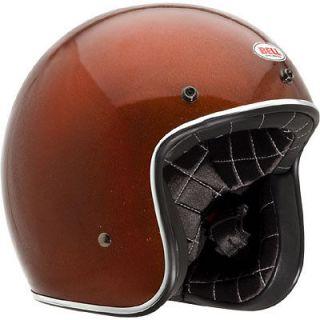 Custom 500 Low Profile Open Face Helmet Orange Flake Adult XLarge XL