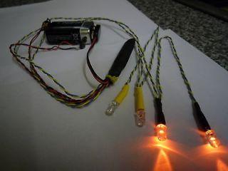 TAMIYA LED LIGHTING WIG WAG FLASHER 4 AMBER LEDS 3MMDIA