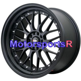 18 XXR 521 Flat Black Rims Wheels Staggered 5x114.3 93 94 97 98 Toyota