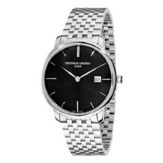 Frederique Constant Mens FC 306G4S6B Curved Index Black Dial Watch