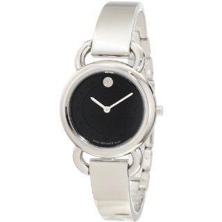 Movado Womens 0606509 Linio Stainless Steel Dave Diamond Dot Watch