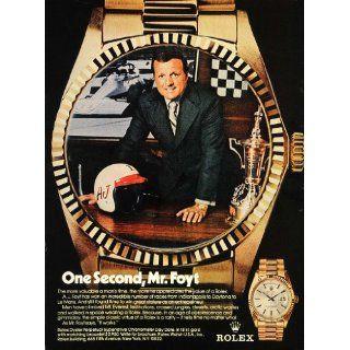 1974 Ad Rolex Wrist Watches A.J. Foyt Famous Car Racer