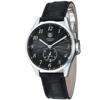 TAG Heuer Mens WAS2110.FC6180 Carrera Black Leather Strap Watch