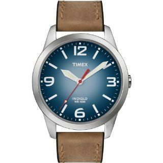 Timex Mens T2N631 Weekender Classic Casual Brown Leather Strap Watch
